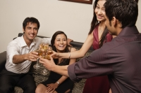 two couples toasting each other - Alex Mares-Manton