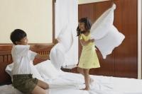 Little kids having pillow fight - Manoj Adhikari