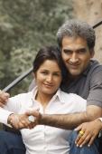 Husband and wife outdoors - Manoj Adhikari