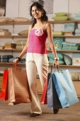 lady with shopping bags - Vivek Sharma