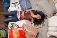 girl exhausted from a day of shopping - Vivek Sharma