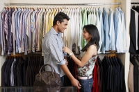 couple shopping for men's clothing - Vivek Sharma