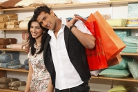 couple with shopping bags - Vivek Sharma