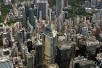 Aerial view overlooking Wanchai, Hong Kong - OTHK