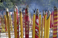 Incense outside the Po Lin Monastery, Lantau Island, Hong Kong - OTHK