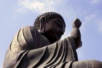 Giant Buddha statue, Po Lin Monastery, Lantau Island, Hong Kong - OTHK