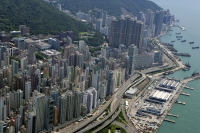 Aerial view overlooking West Point, Hong Kong - OTHK
