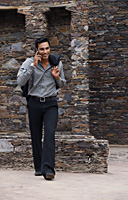 man on mobile phone - Vivek Sharma