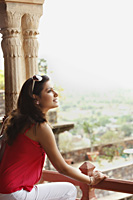 woman taking in view - Vivek Sharma