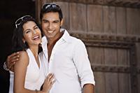 couple smiling, embracing - Vivek Sharma
