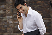 man on mobile phone - Vivek Sharma