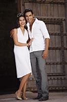 couple posing in doorway - Vivek Sharma