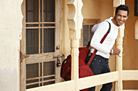 man with duffel bag - Vivek Sharma