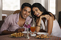 couple at restaurant - Vivek Sharma