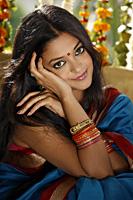 woman in sari, bangles and a bindi - Vivek Sharma