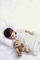 baby boy sleeping with teddy bear - Alex Mares-Manton