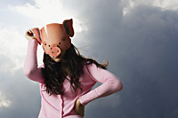 lady with pig mask - Yukmin