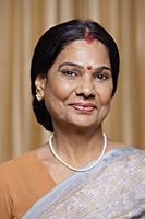 portrait of woman in sari and bindi - Alex Mares-Manton