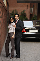 couple standing in front of car - Alex Mares-Manton