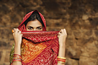 woman with sari covering face - Alex Mares-Manton