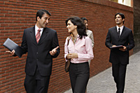 business associates, walking - Alex Mares-Manton