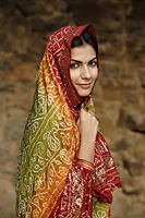 young woman in sari - Alex Mares-Manton