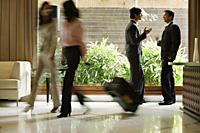 busy hotel lobby - Alex Mares-Manton