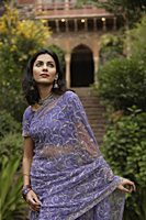 young graceful woman in sari - Alex Mares-Manton