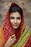 young woman in sari - Alex Mares-Manton