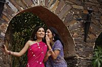 young women in saris, sharing secret - Alex Mares-Manton
