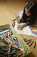 Little girl coloring - Alex Mares-Manton