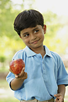 little boy with apple - Vivek Sharma
