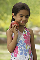 little girl with apple - Vivek Sharma