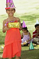 birthday girl with present - Vivek Sharma