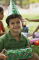birthday boy with present - Vivek Sharma