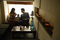 Couple in restaurant - Alex Mares-Manton