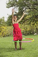 little girl with hula hoop - Vivek Sharma