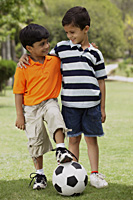 two little boys with soccer ball - Vivek Sharma