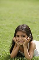 little girl on grass - Alex Mares-Manton