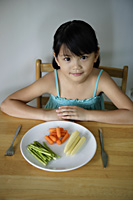 Little girl with plate of vegetables - Yukmin