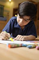 boy coloring - Alex Mares-Manton