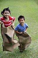 Kids having sack race - Yukmin
