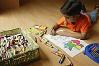 Little boy coloring - Alex Mares-Manton