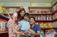 family shopping for toys - Alex Mares-Manton