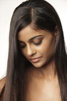 Woman with eyes turned down - Vivek Sharma