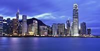 Wanchai skyline at dusk, Hong Kong - OTHK