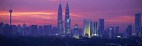 Kuala Lumpur skyline at dusk, Malaysia - OTHK