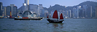 Chinese junk at Victoria Harbour, Hong Kong - OTHK