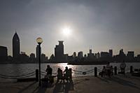 People at leisure, Binjiang Avenue, Pudong, Shanghai, China - OTHK
