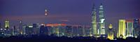 Kuala Lumpur skyline at night, Malaysia - OTHK